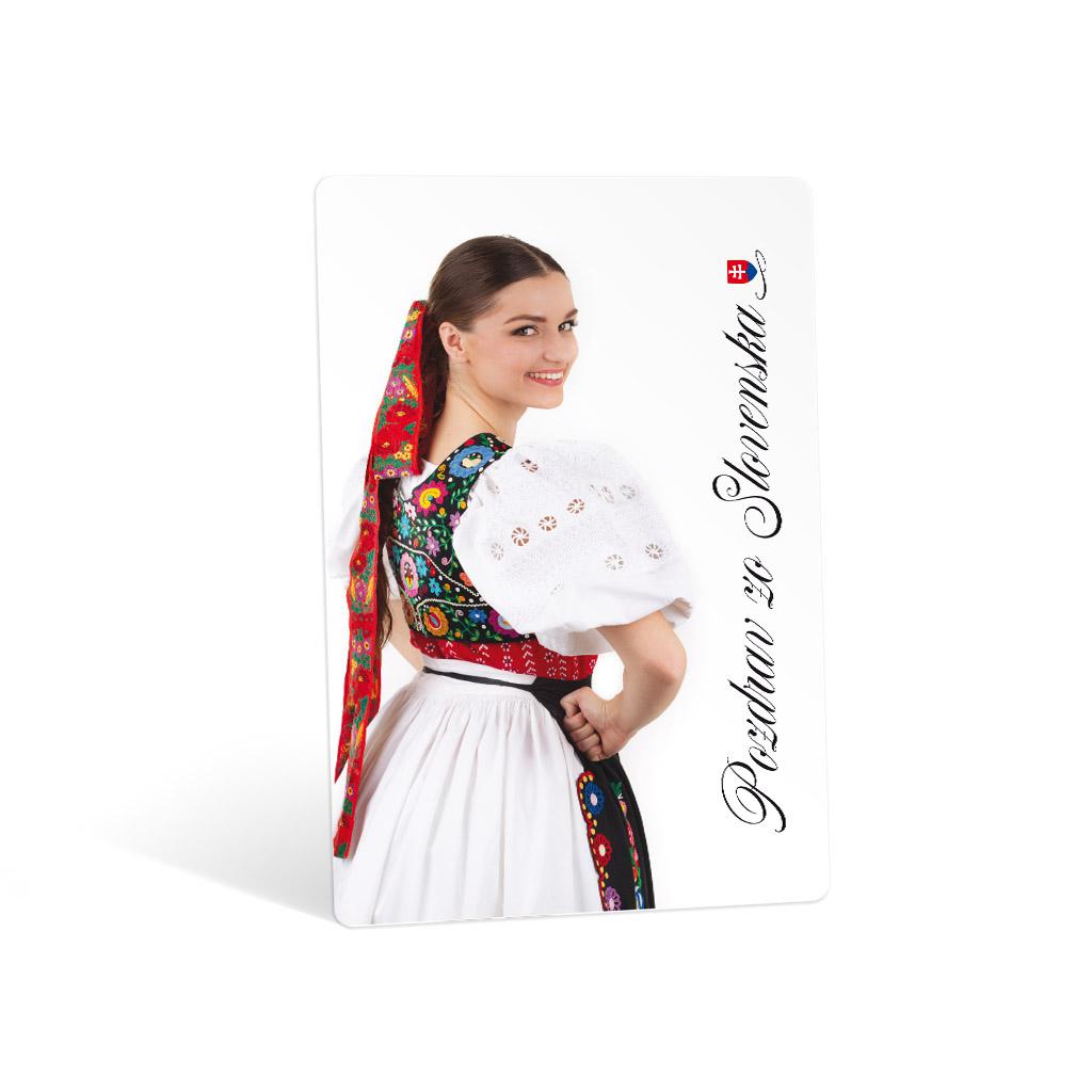 Pohľadnica ŠEVT Slovenské kroje, 20x13 cm, bez textu, mix motívov