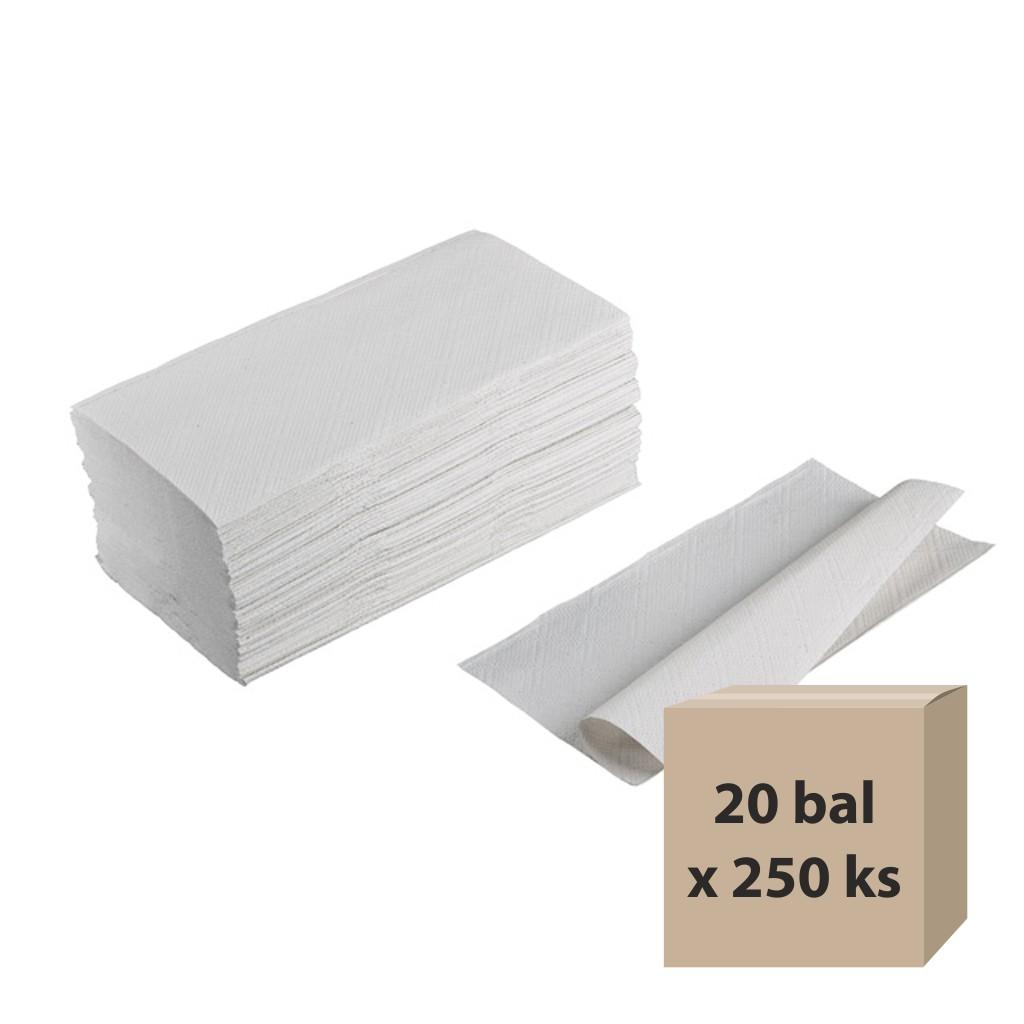 Papier. utierky sklad. ZZ / 250 ks šedé - B kv., 20 ks