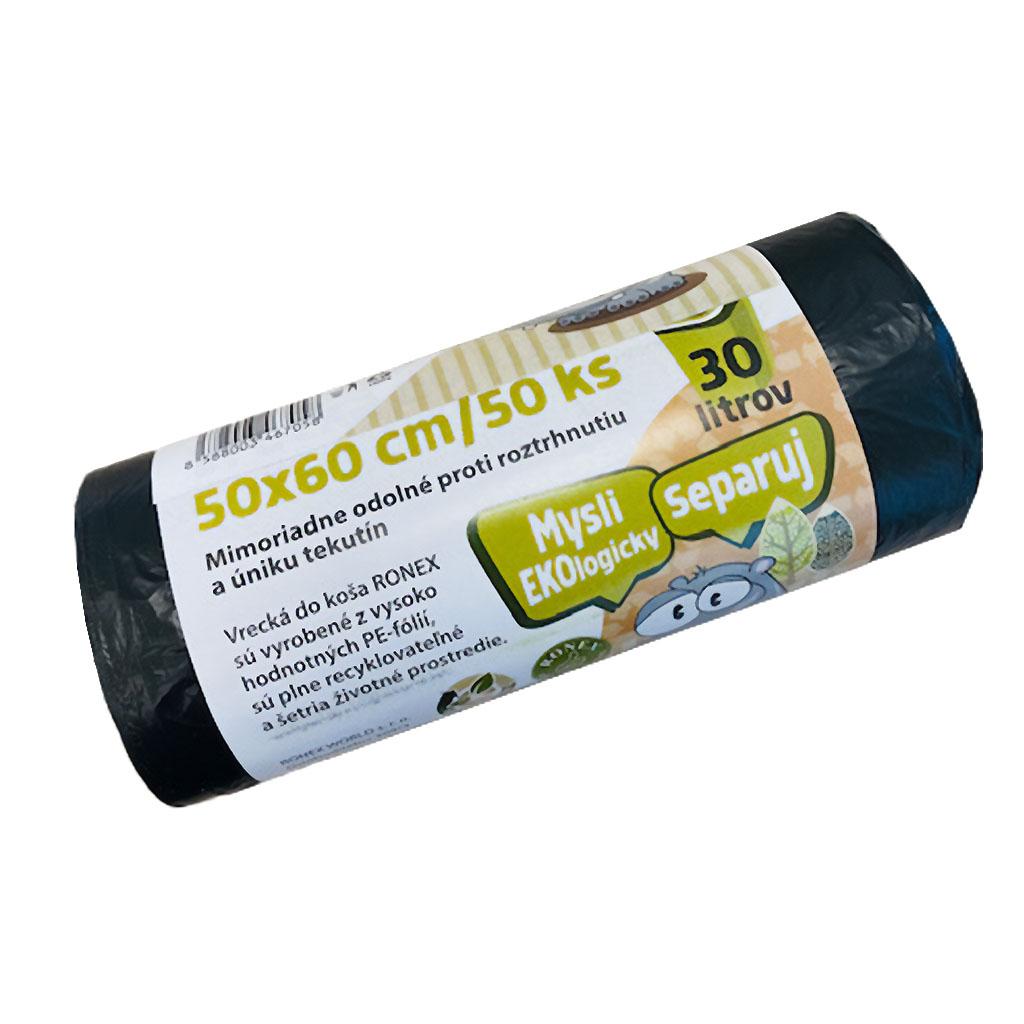 Vrecká do odpad. koša 50cm x 60cm / 50 ks mikrot.