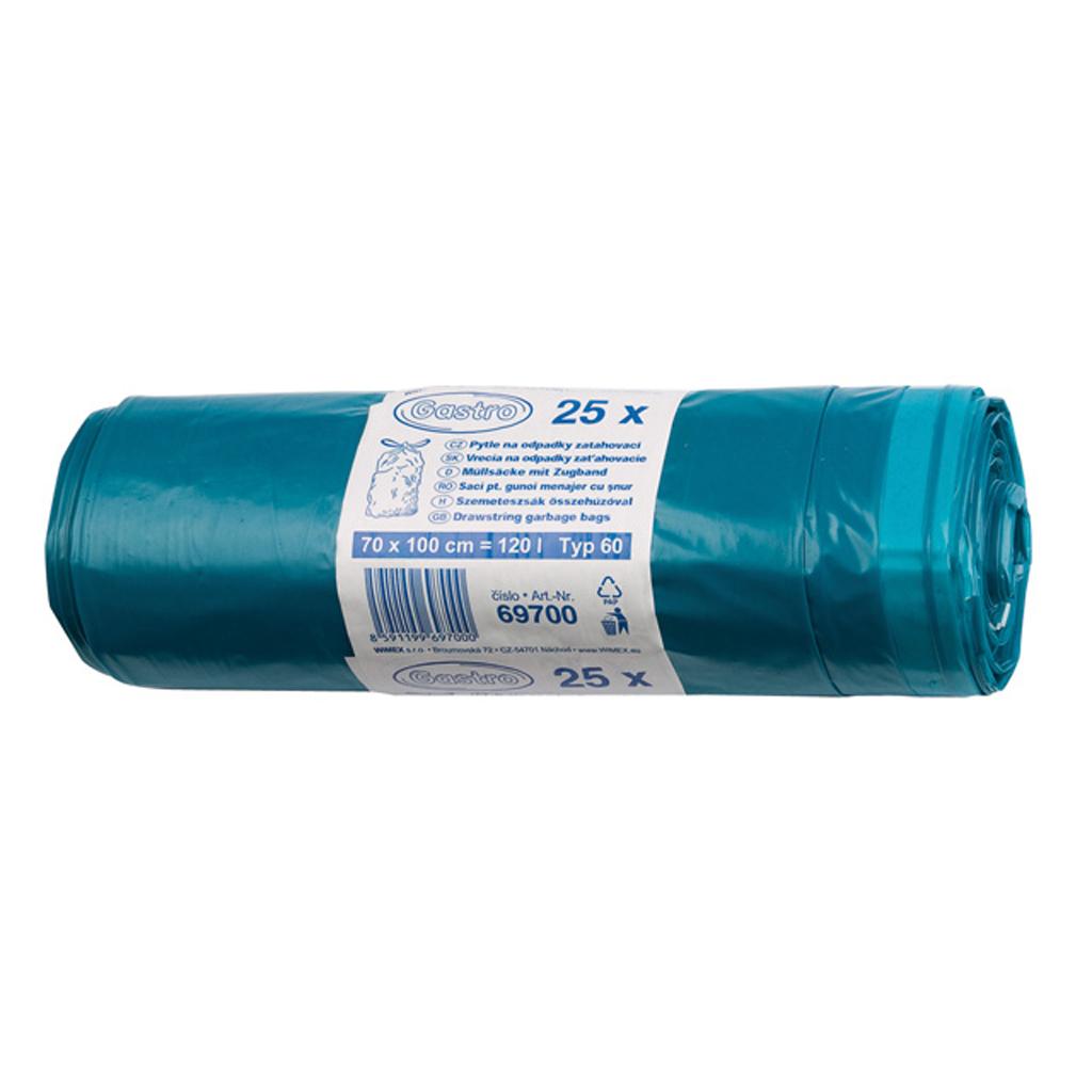 Vrecká do odpad. koša - zaťahovacie 70cm x 100cm / 25 ks igelit.