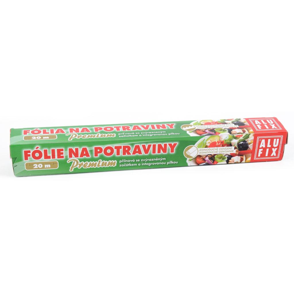 Fólia potravinová 20m s pilkou Premium