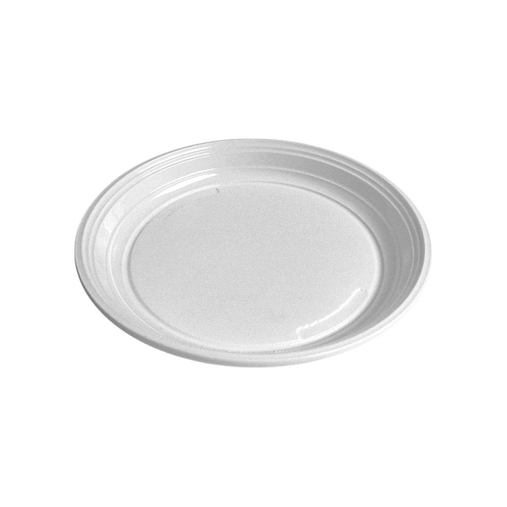 Tanier plytký biely 20,5 cm/100 ks balenie