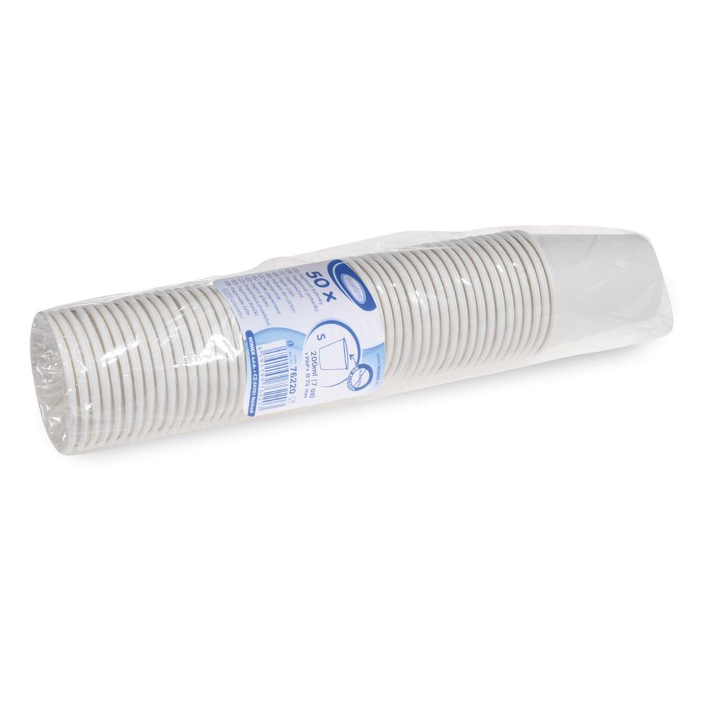 Pohár papierový biely 200 ml / 50 ks