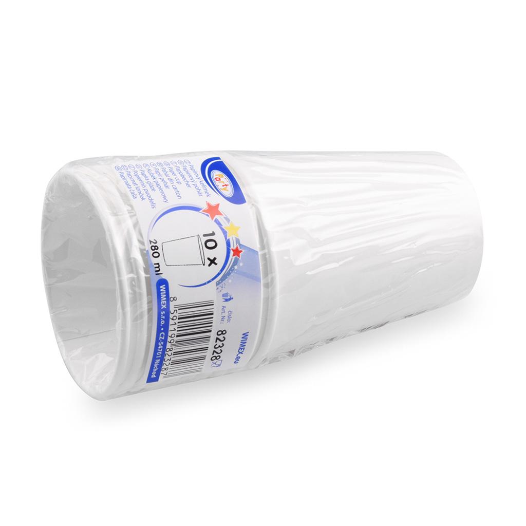Pohár papierový biely 280 ml / 10 ks