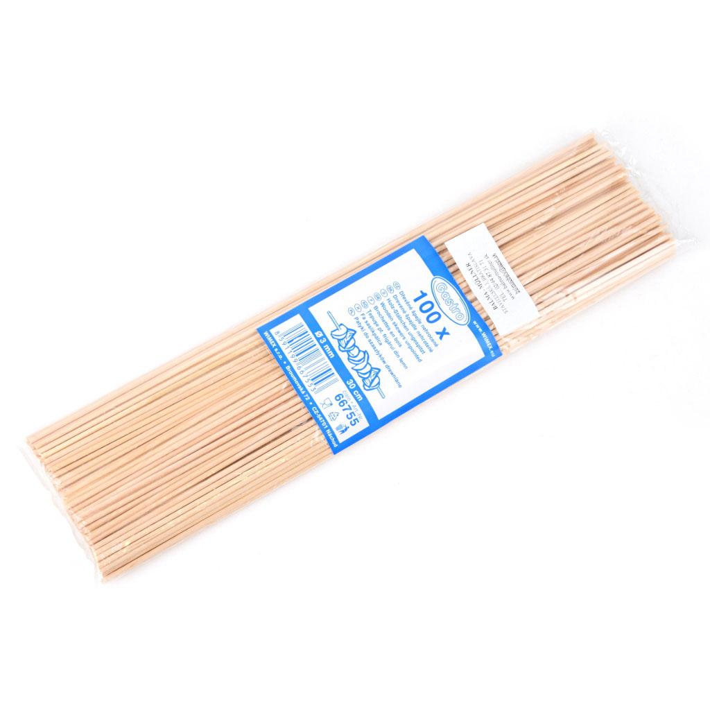 Špajdle drevené neostré 30 cm / 100 ks