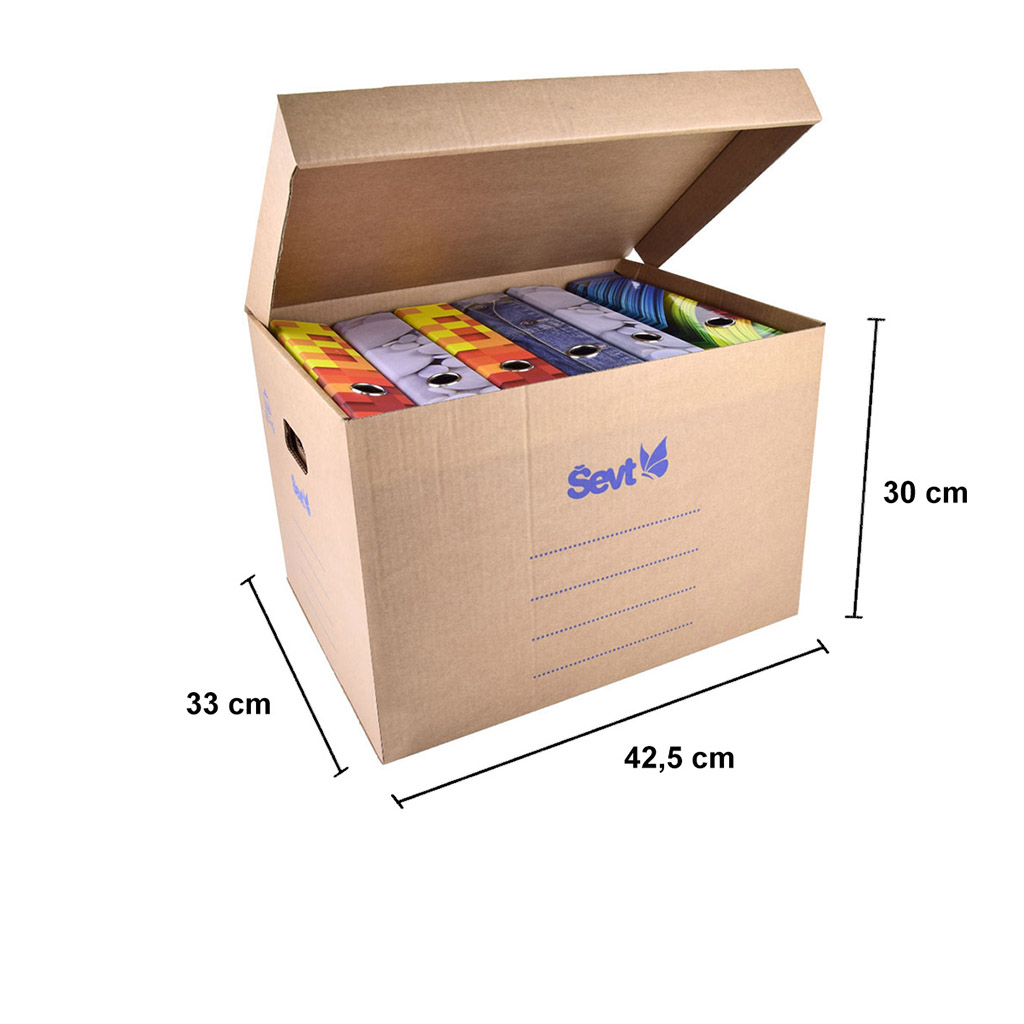 ŠEVT Archívna krabica, 42,5 x 33 x 30 cm