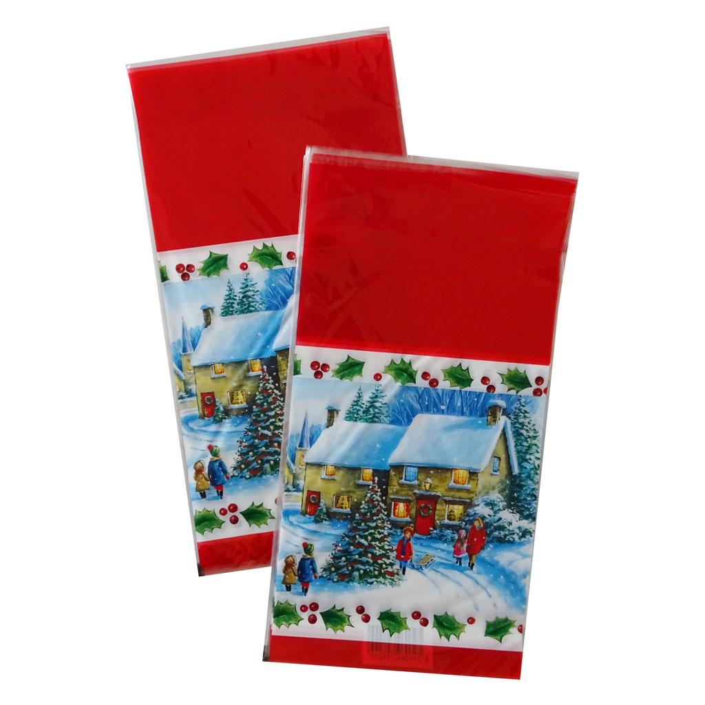 Vrecko vianočné 21 x 40 cm - zasnežená krajina