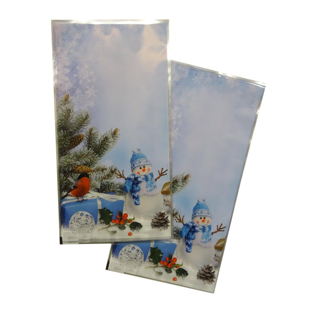 Vrecko vianočné 21 x 40 cm - snehuliak
