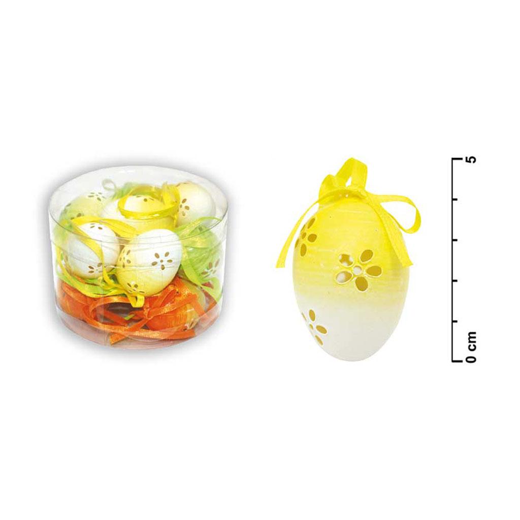 Vajíčka veľkonočné duhové, dierky 4cm /12ks tuba S32510
