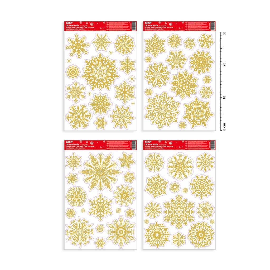 Fólia okenná vianočná, Gliter VA010 20x30cm