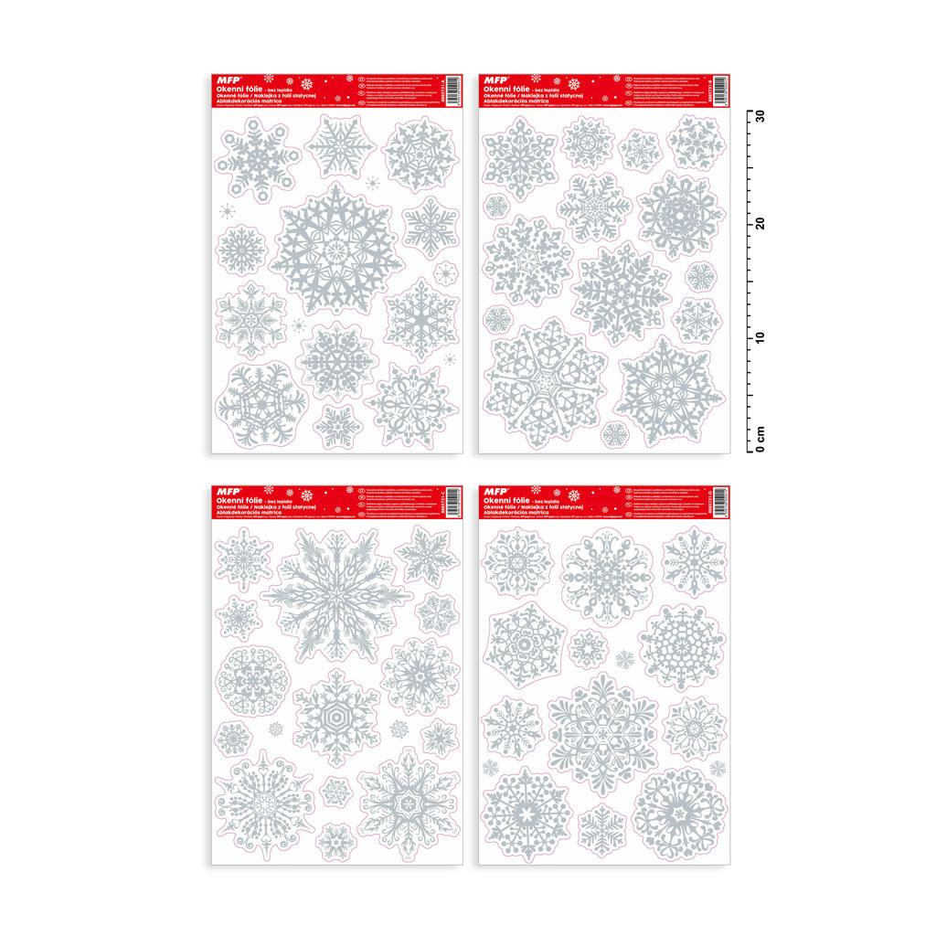 Fólia okenná vianočná, Gliter VA011 20x30cm
