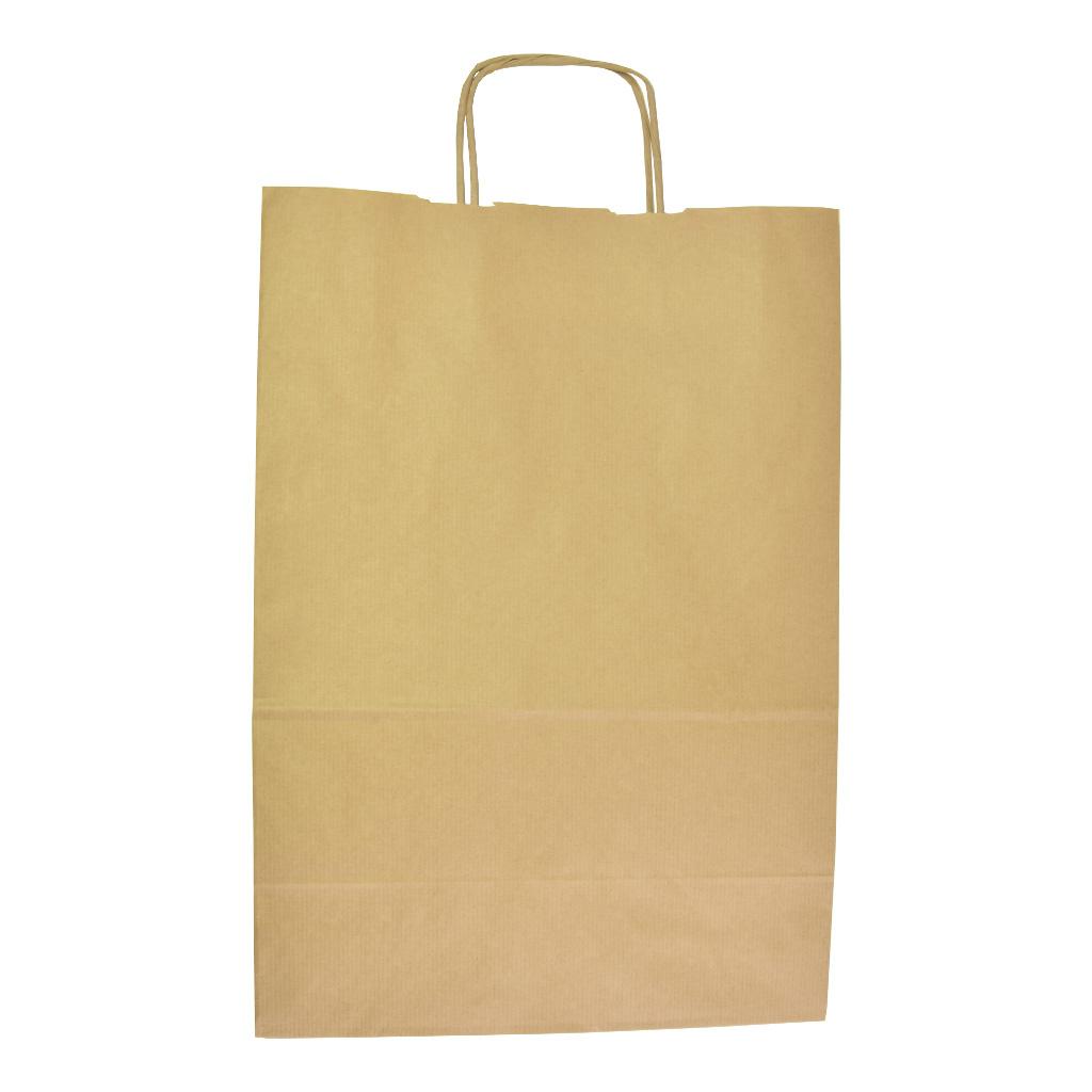 Papierová taška s krúteným uchom 30,5x17x42,5 cm natur