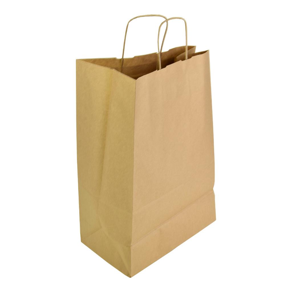 Papierová taška s krúteným uchom 24x10x32 cm natur