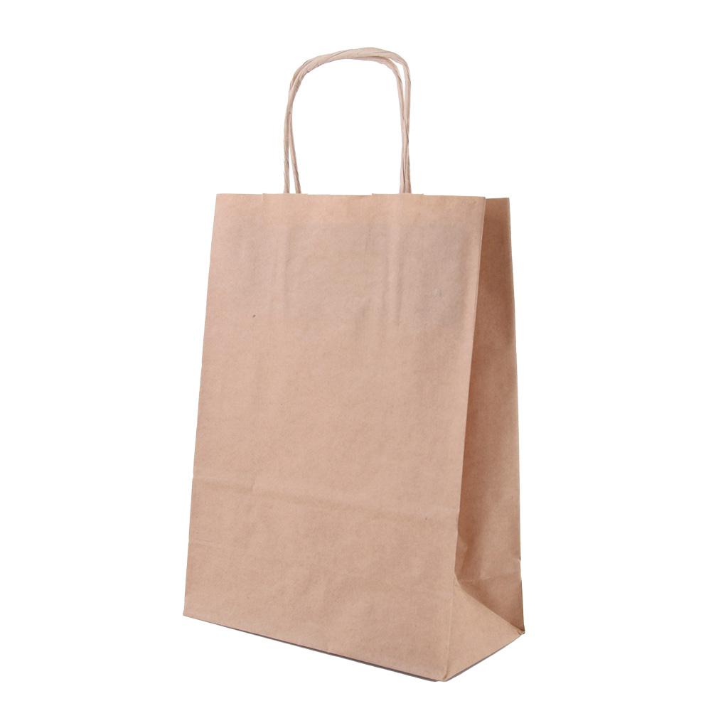 Papierová taška s krúteným uchom 14x8x21 cm natur