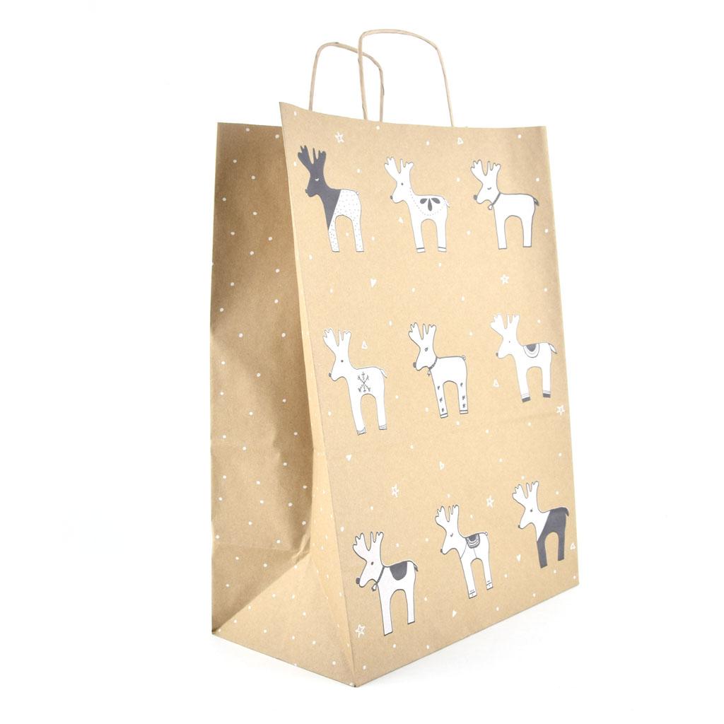 """Papierová taška s krúteným uchom """"Soby"""" 30,5x17x42,5 cm natur"""