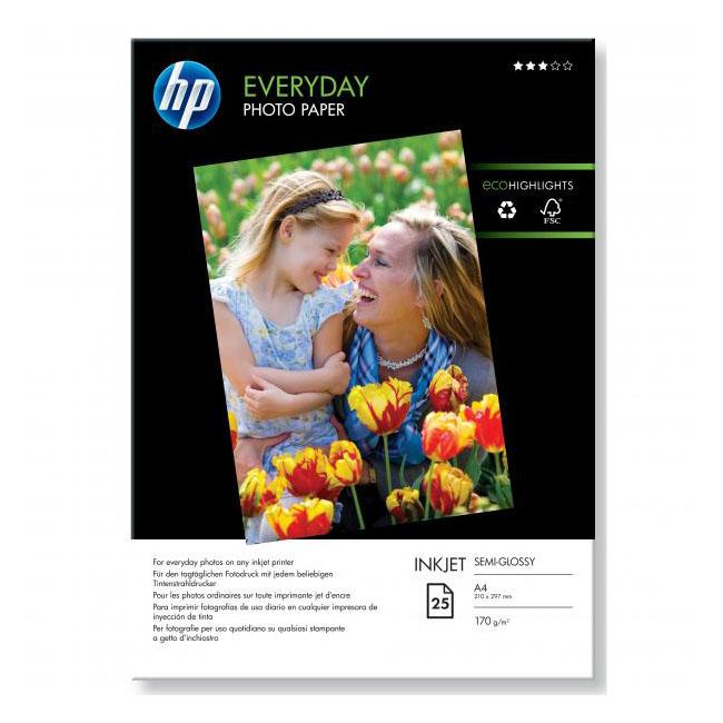 Papier HP inkjet fotopapier Everyday glossy, A4, 200g, 25 hárkov, Q5451A