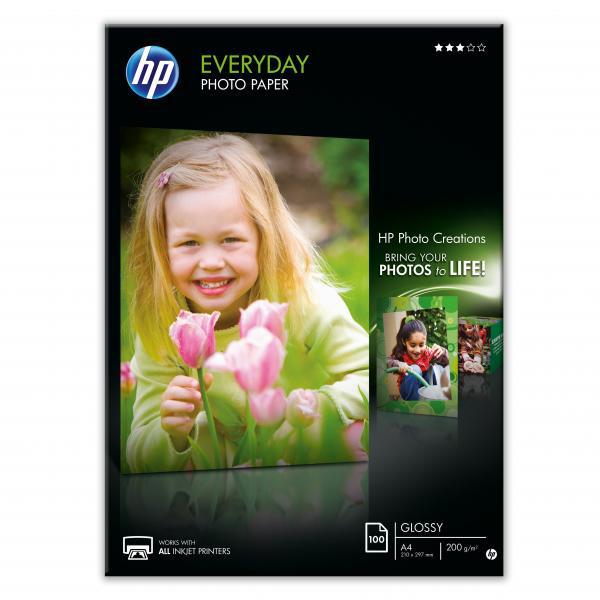 Papier HP inkjet fotopapier Everyday glossy A4, 200g, 100 hárkov, Q2510A
