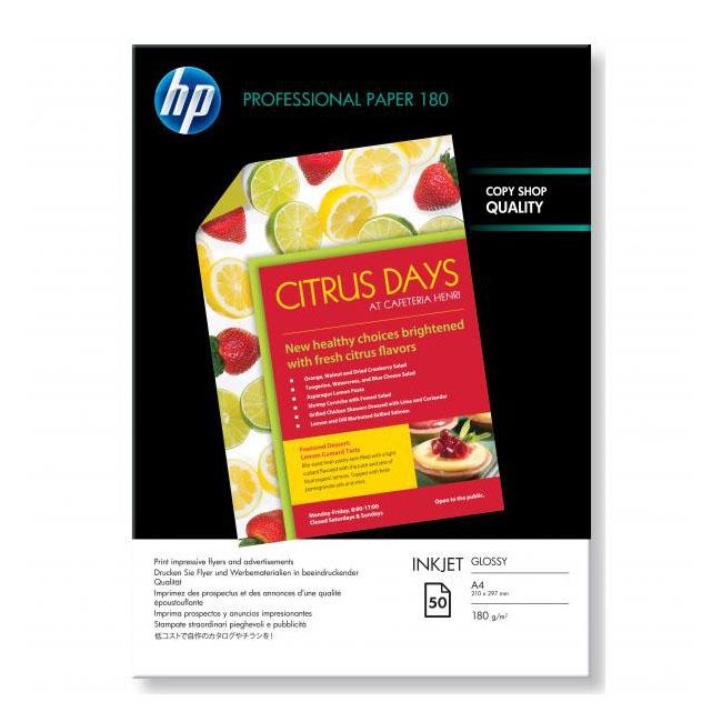 Papier HP inkjet fotopapier Superior glossy, A4, 180g, 50 hárkov, C6818A