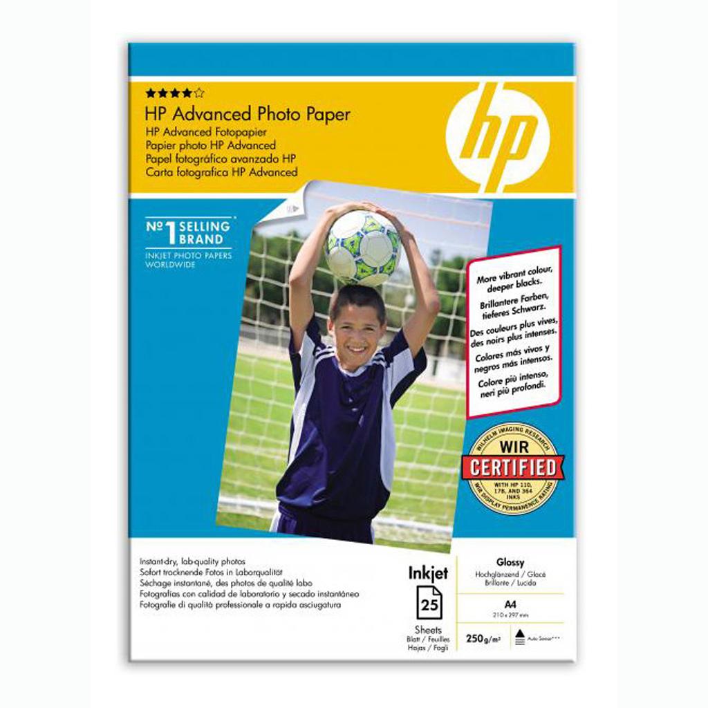 Papier HP inkjet fotopapier Advanced glossy, A4, 250g, 25 hárkov, Q5456A