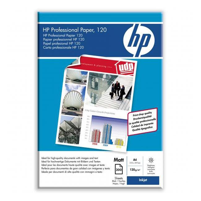 Papier HP inkjet Professional paper, matný A4, 120g, 200 hárkov, Q6593A