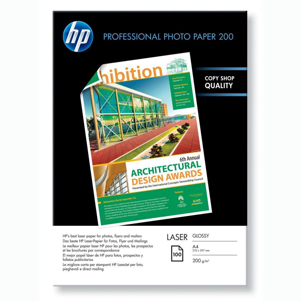 Papier HP laser fotopapier Professional glossy, A4, 200g, 100 hárkov, CG966A