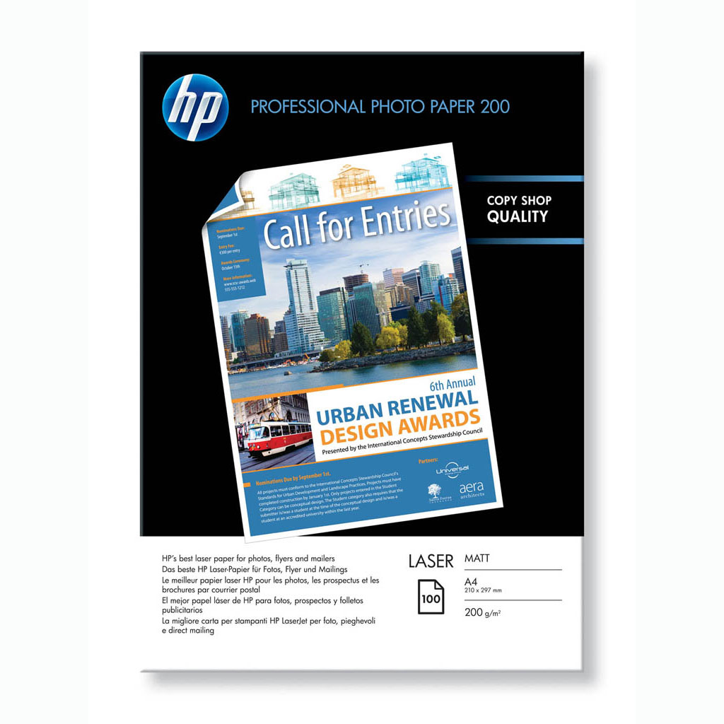 Papier HP Professional laser fotopapier, matný, A4, 200g, 100 hárkov, Q6550A