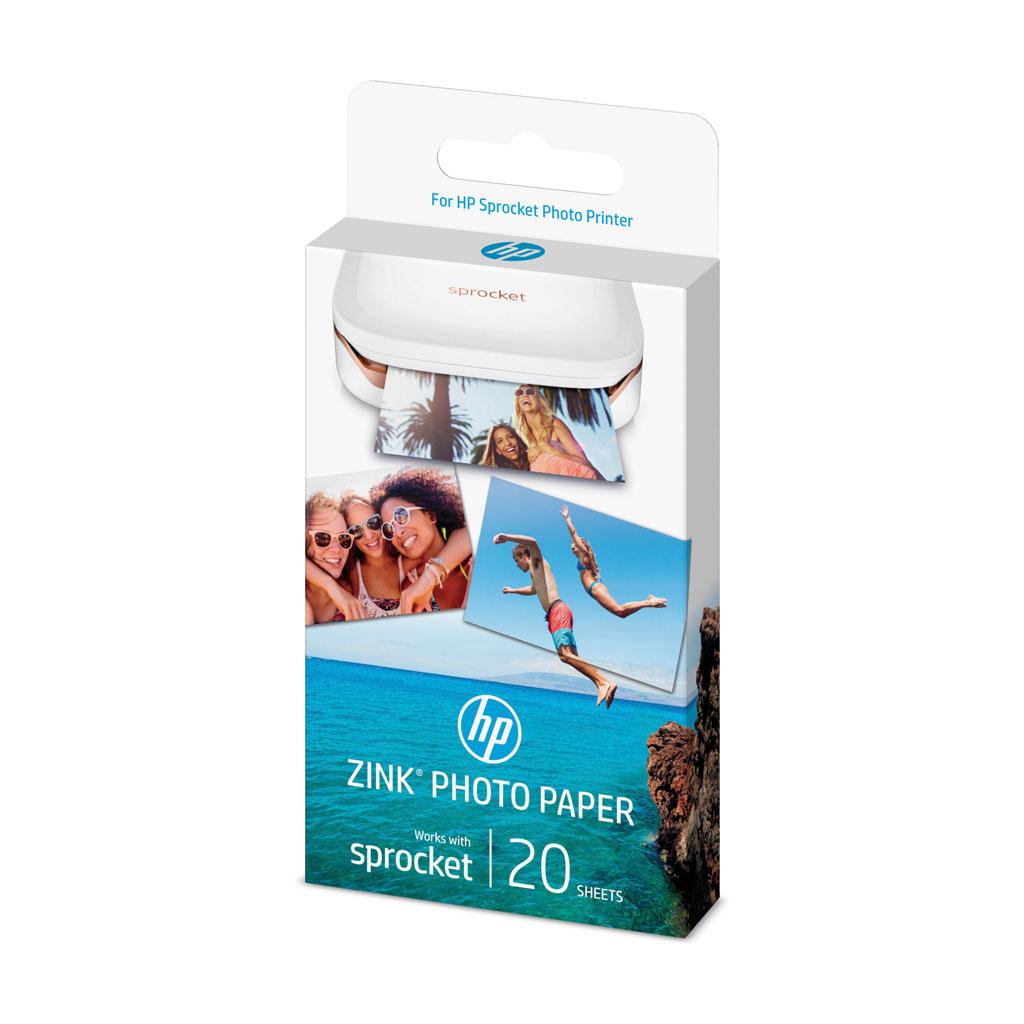 """Papier HP ZINK Sticky-Backed fotopapier lesklý, 5x7,6cm, 2x3"""", termál., 20 hárkov, W4Z13A"""