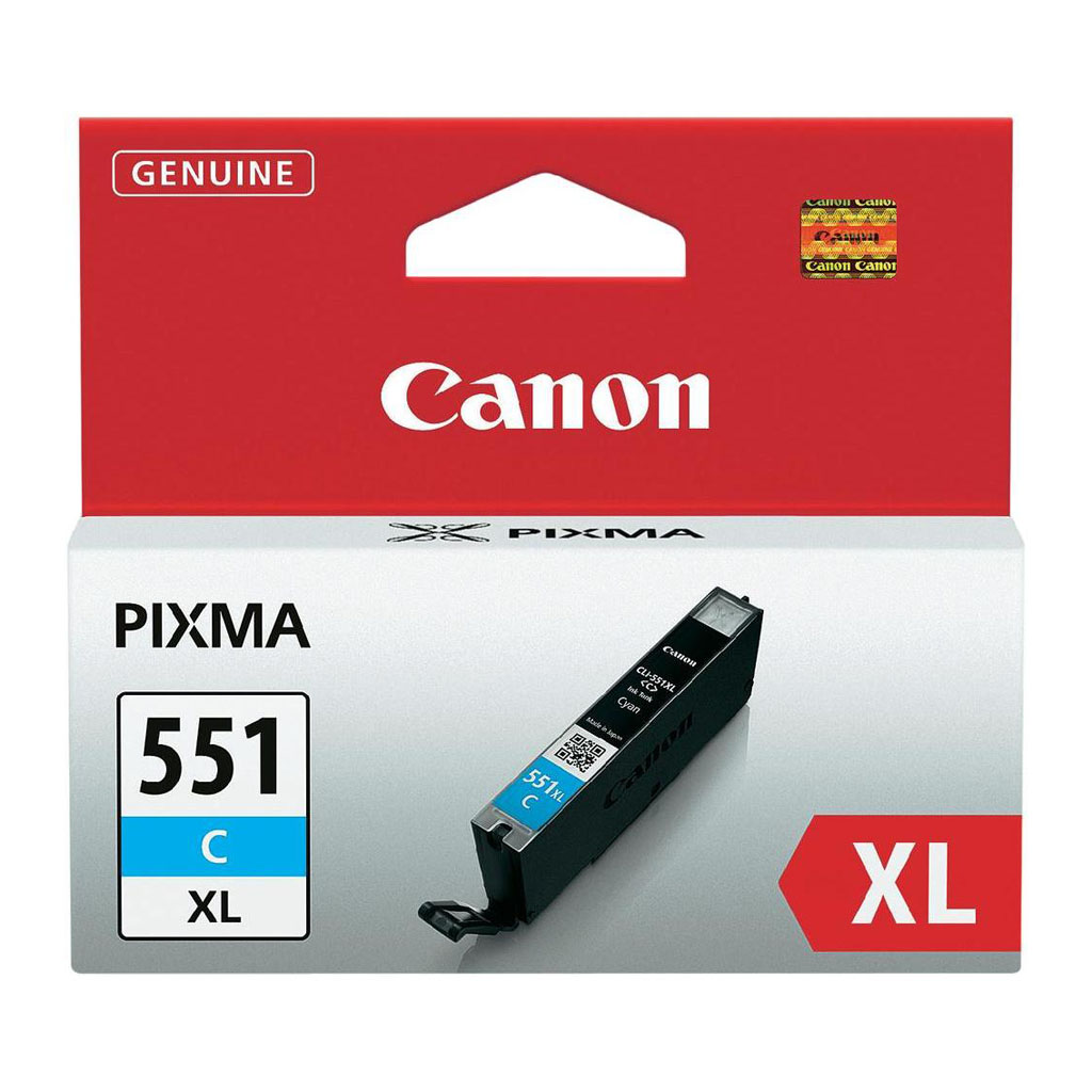 Inkjet Canon CLI-551C XL pre MG 5450, 6350, iP 7250, MX 925 (500 str.) Cyan XL