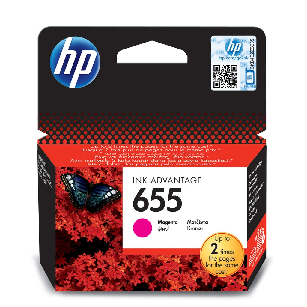 Inkjet HP CZ111AE No.655 pre DeskJet Ink Advantage 3525, 4615, 4625, 5525, 6525 (600 str.) Magenta