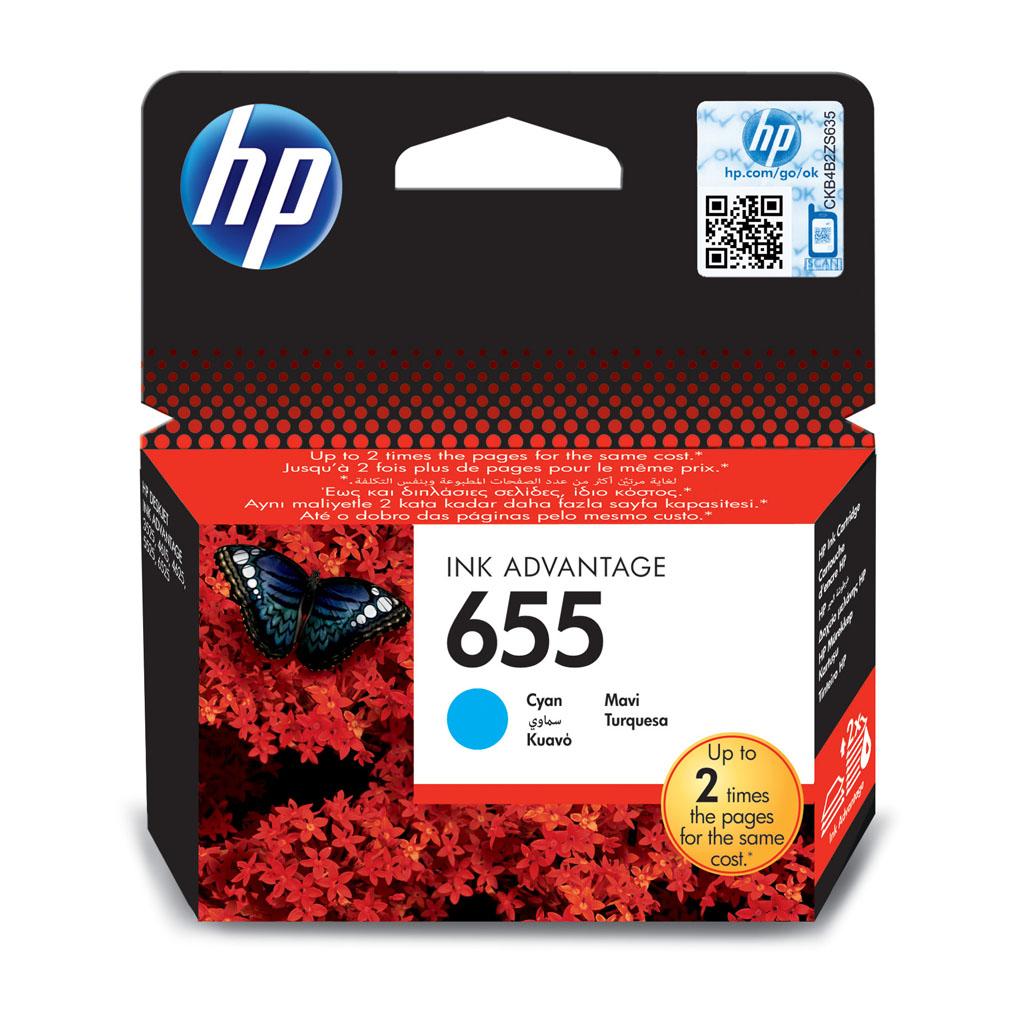 Inkjet HP CZ110AE No.655 pre DeskJet Ink Advantage 3525, 4615, 4625, 5525, 6525 (600 str.) Cyan