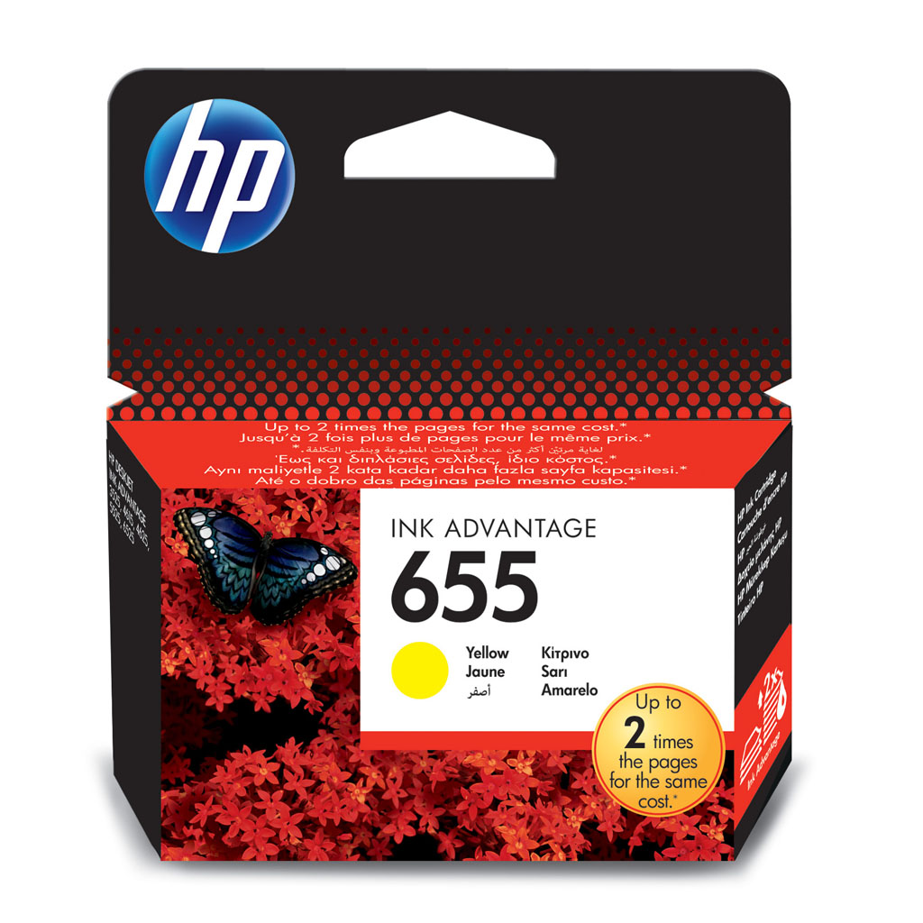 Inkjet HP CZ112AE No.655 pre DeskJet Ink Advantage 3525, 4615, 4625, 5525, 6525 (600 str.) Yellow