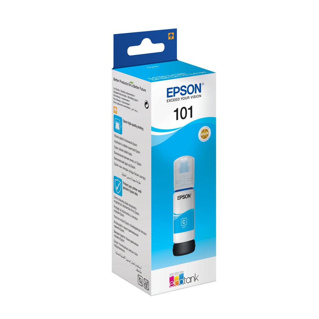 Inkjet Epson C13T03V24A pre EcoTank L4150, L4160, L6160, L6170, L6190 - 70ml (6.000 str.) Cyan