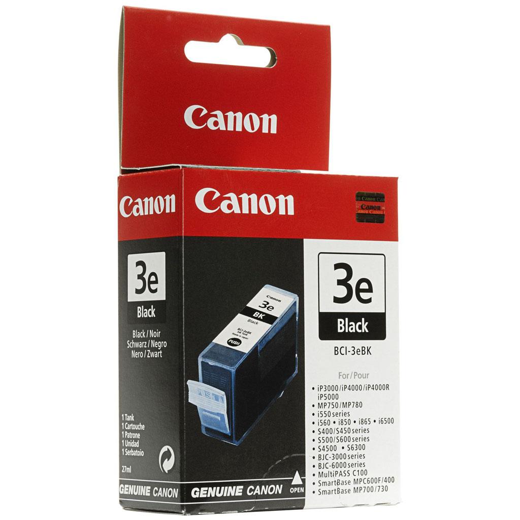 Inkjet Canon BCI-3eBK pre BJC-3000, 6000, 6100, 6200, 6500, s400, s450, s500, s520 (500 str.) Black