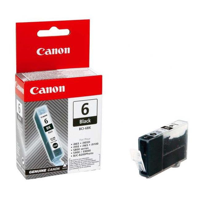 Inkjet Canon BCI-6Bk pre BJC-8200, s800, s820, s820D, s830D, s900, s9000 (390 str.) Black