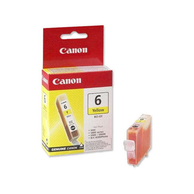 Inkjet Canon BCI-6Y pre BJC-8200, s800, s820, s820D, s830D, s900, s9000 (390 str.) Yellow