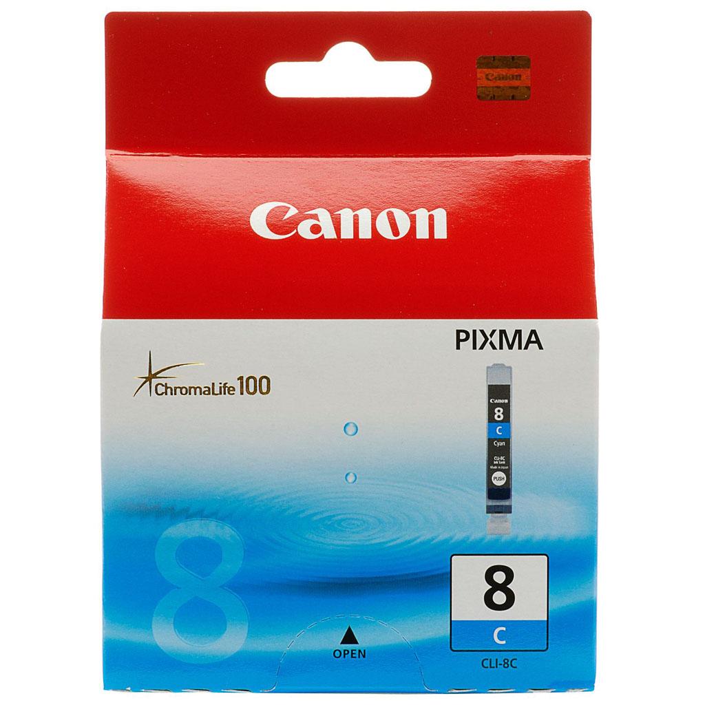 Inkjet Canon CLI-8C pre iP4200, 4300, 5200, 5300, MP500, 530, 600, 610, 800 (400 str.) Cyan
