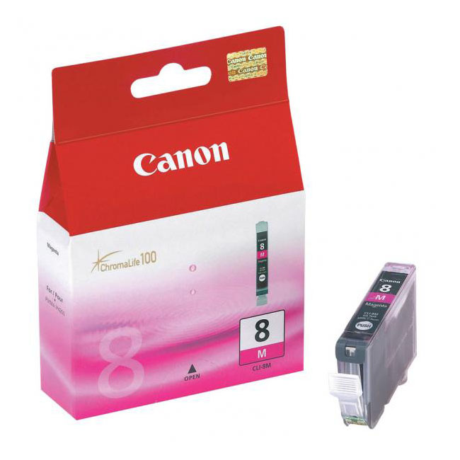 Inkjet Canon CLI-8M pre iP4200, 4300, 5200, 5300, MP500, 530, 600, 610, 800 (400 str.) Magenta