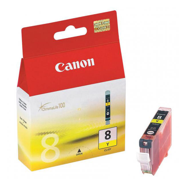 Inkjet Canon CLI-8Y pre iP4200, 4300, 5200, 5300, MP500, 530, 600, 610, 800 (400 str.) Yellow