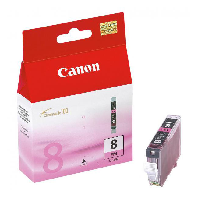Inkjet Canon CLI-8PM pre Pixma iP6600D, 6700D, MP970, Pro9000 (400 str.) Photo Magenta