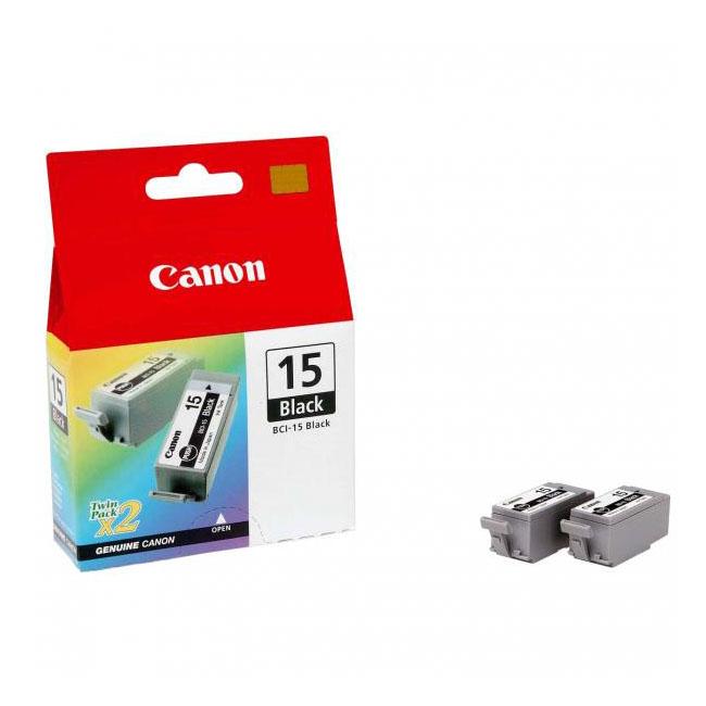 Inkjet Canon BCI-15 Bk pre i70, i80, Pixma iP90 (2 ks) black