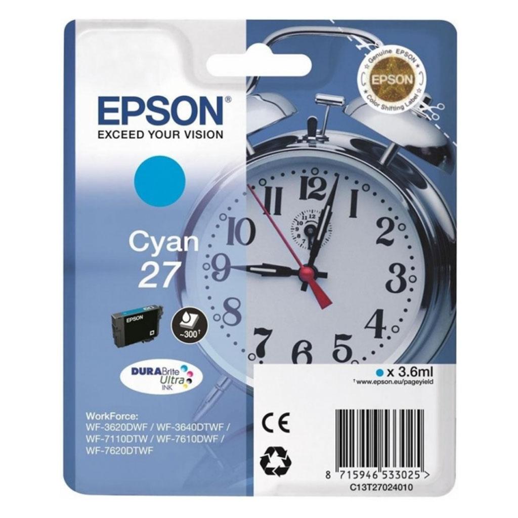 Inkjet Epson C13T270240 pre WF-3620, 3640, 7110, 7610, 7620 (300 str.) Cyan
