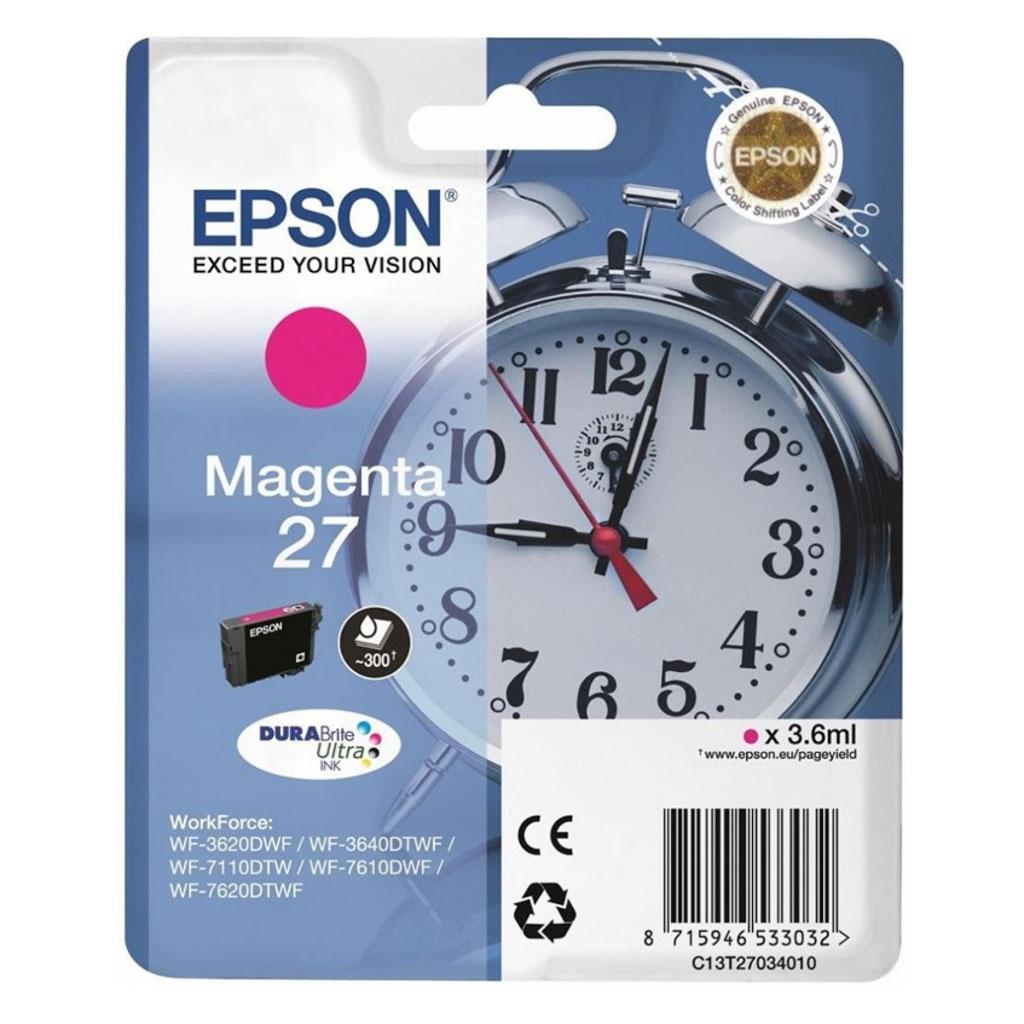 Inkjet Epson C13T270340 pre WF-3620, 3640, 7110, 7610, 7620 (300 str.) Magenta