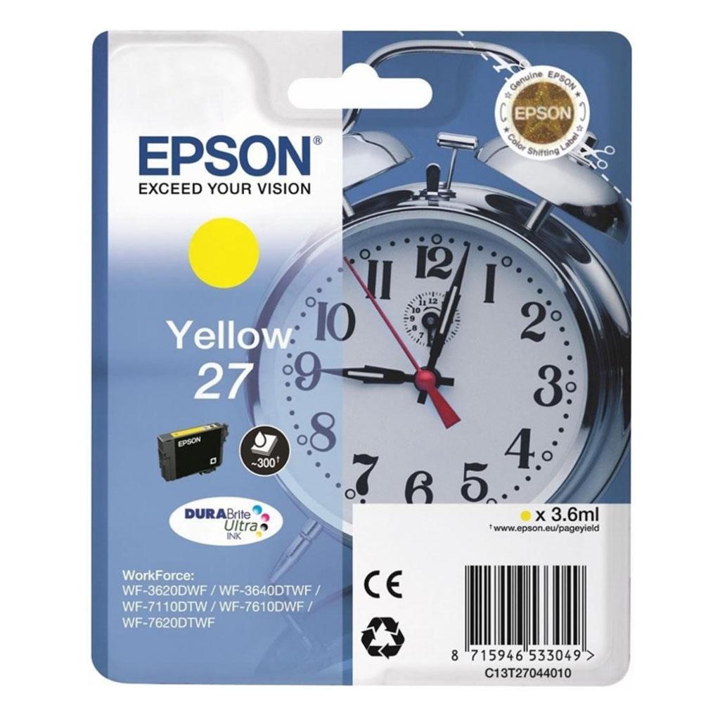 Inkjet Epson C13T270440 pre WF-3620, 3640, 7110, 7610, 7620 (300 str.) Yellow