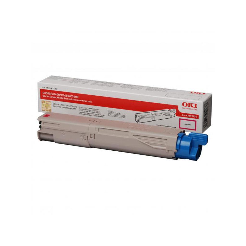 Toner OKI 43459434 pre C3300, 3400, 3450n, 3600n (1.500 str.) Magenta