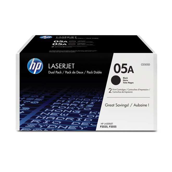 Toner HP CE505D No.05A pre LaserJet P2035, P2055 (2x2.300 str.) dual pack