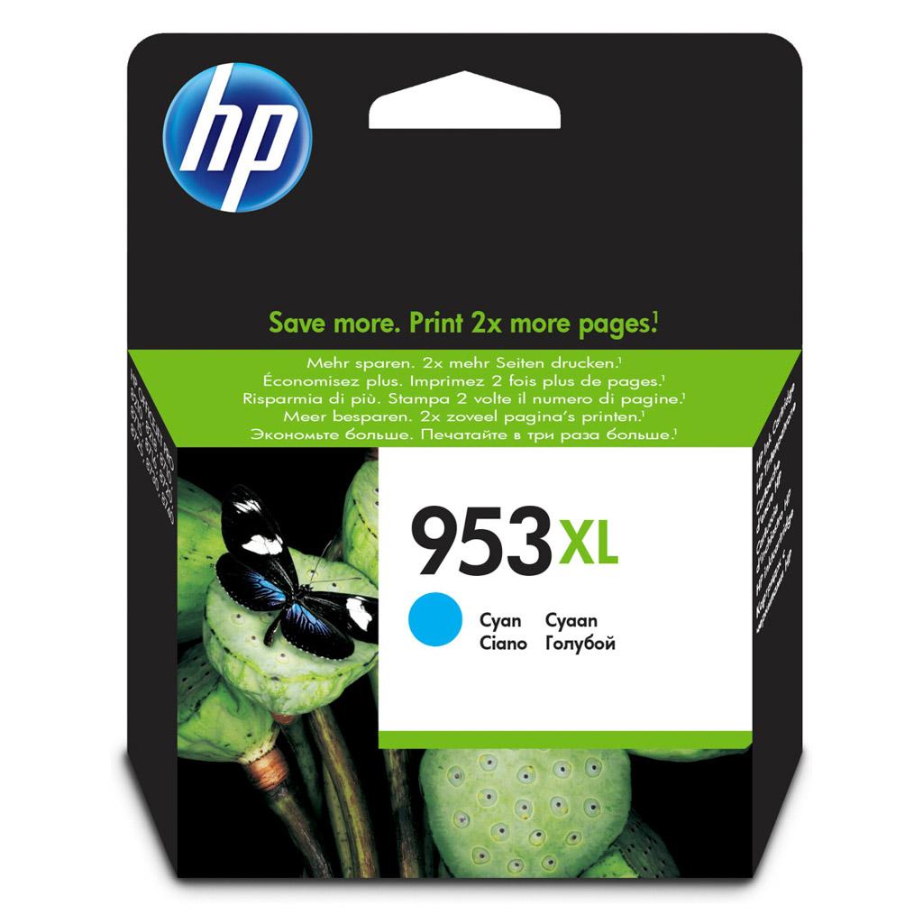 Inkjet HP F6U16AE No.953XL pre OJ Pro 8218, 8710, 8720, 8730, 8740 (1.600 str.) Cyan XL
