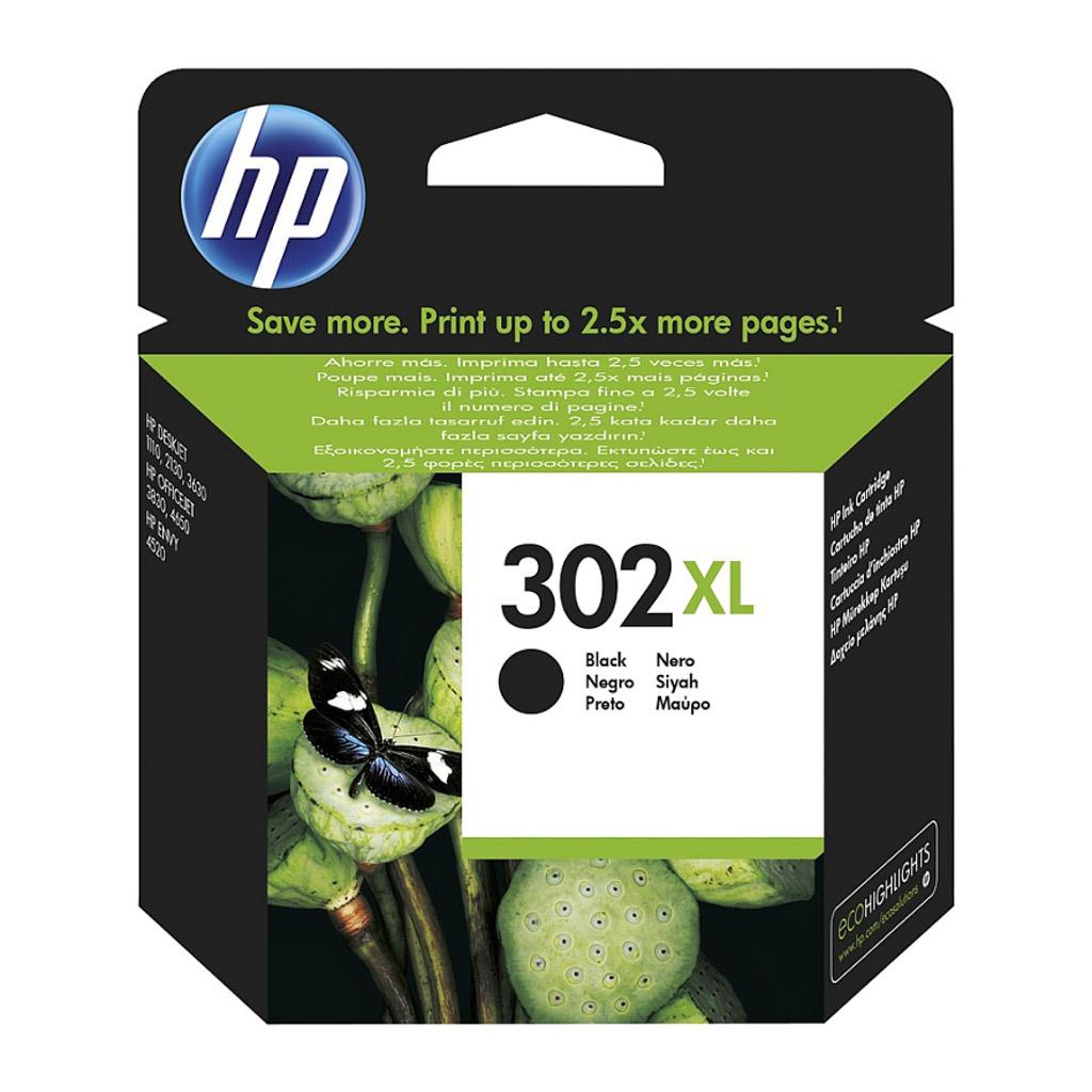 Inkjet HP F6U68AE No.302XL pre OJ 3830, 3834, 4650, DJ 2130, 3630, Envy 4520 (480 str.) čierny XL