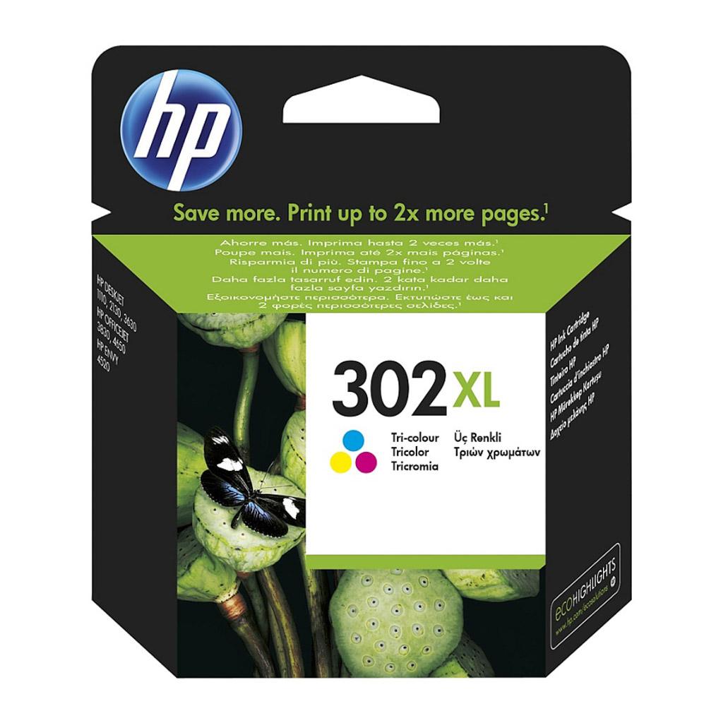 Inkjet HP F6U67AE No.302XL pre OJ 3830, 3834, 4650, DJ 2130, 3630, Envy 4520 (330 str.) farebný XL