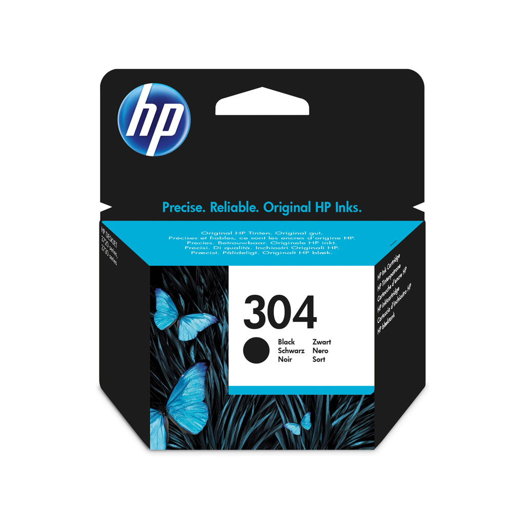 Inkjet HP N9K06AE No.304 pre DeskJet 2620, 2630, 2632, 2633, 3720, 3730 (120 str.) čierny