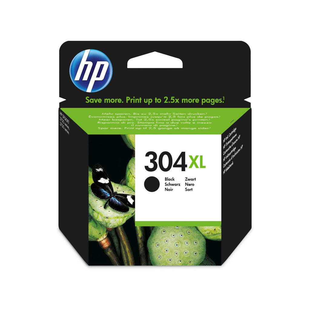 Inkjet HP N9K08AE No.304XL pre DeskJet 2620, 2630, 2632, 2633, 3720, 3730 (300 str.) čierny XL